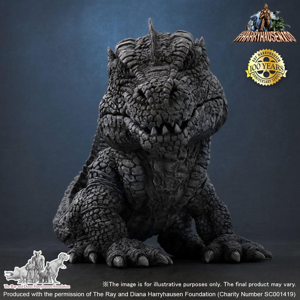 Statuette Le Monstre des temps perdus Defo-Real Soft Vinyl Ray Harryhausens Rhedosaurus B&W 15cm