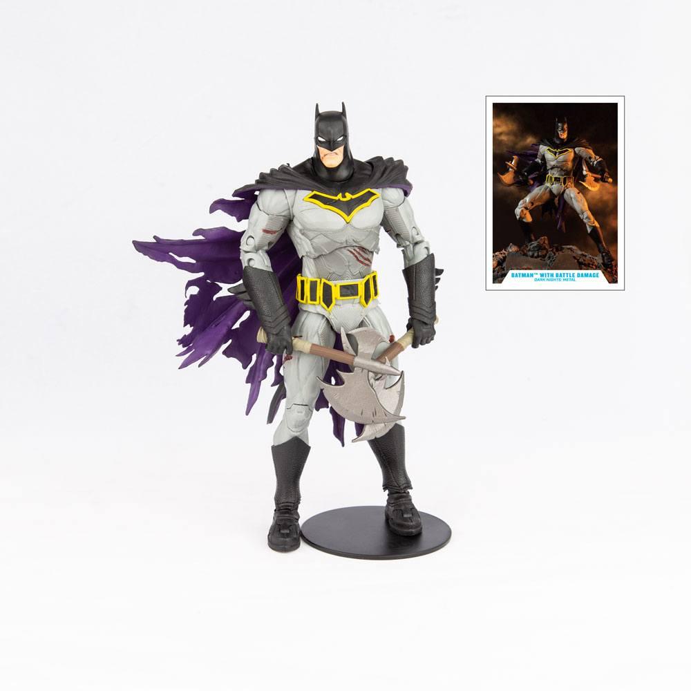 Figurine DC Multiverse Batman with Battle Damage Dark Nights Metal 18cm