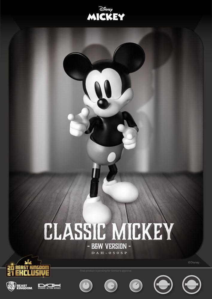 Figurine Disney Classic Dynamic Action Heroes Mickey Classic Version B&W Version 21cm