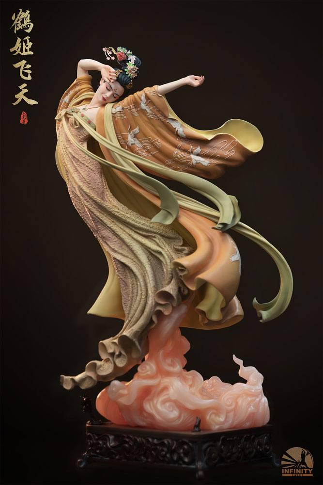 Statuette Infinity Studio Elegance Beauty Series The Flying Princess Crane Elite Version 50cm
