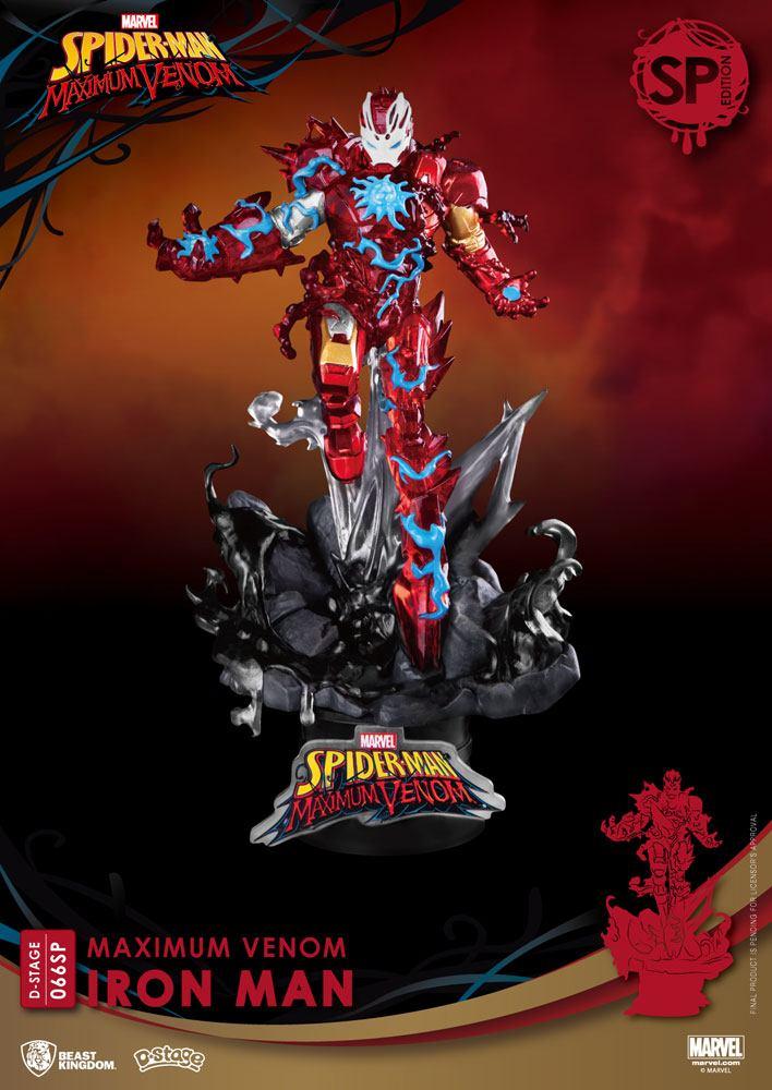 Diorama Marvel Comics D-Stage Maximum Venom Iron Man Special Edition 16cm