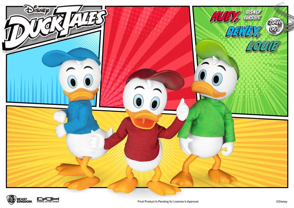 Pack 3 figurines DuckTales Dynamic Action Heroes Huey, Dewey & Louie 10cm