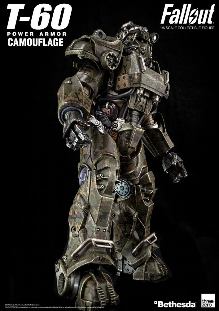 Figurine Fallout T-60 Camouflage Power Armor 37cm