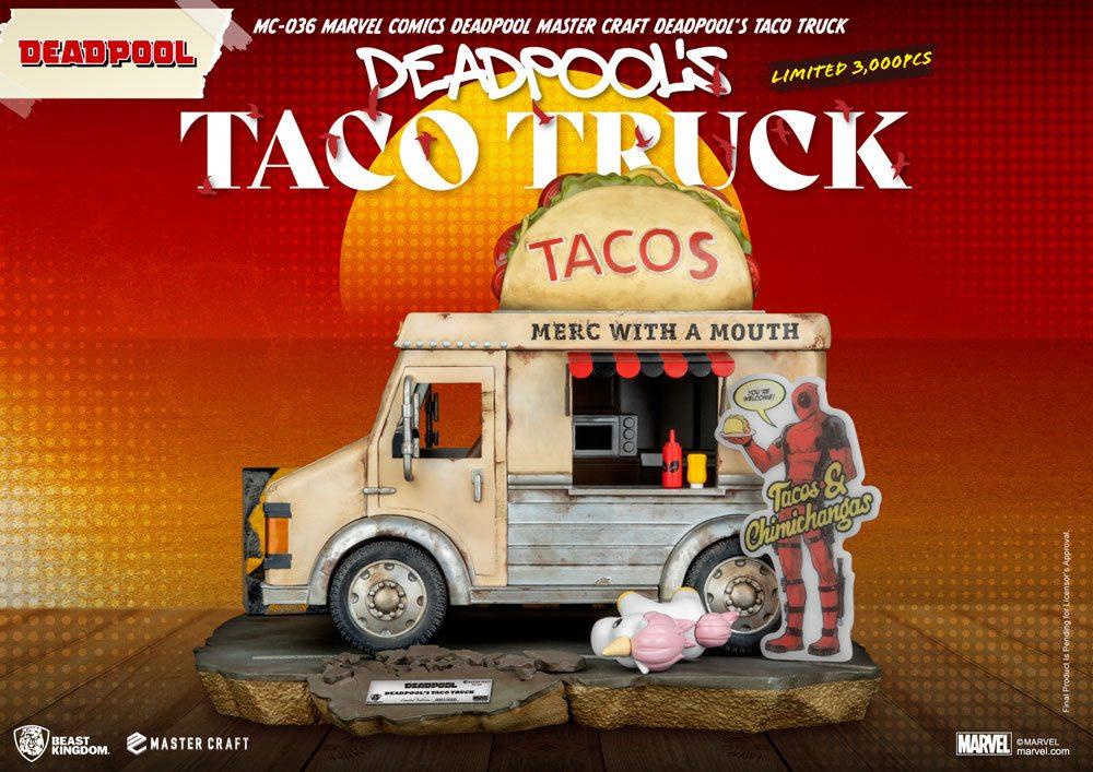 Statuette Marvel Comics Master Craft Deadpool\'s Taco Truck 35cm