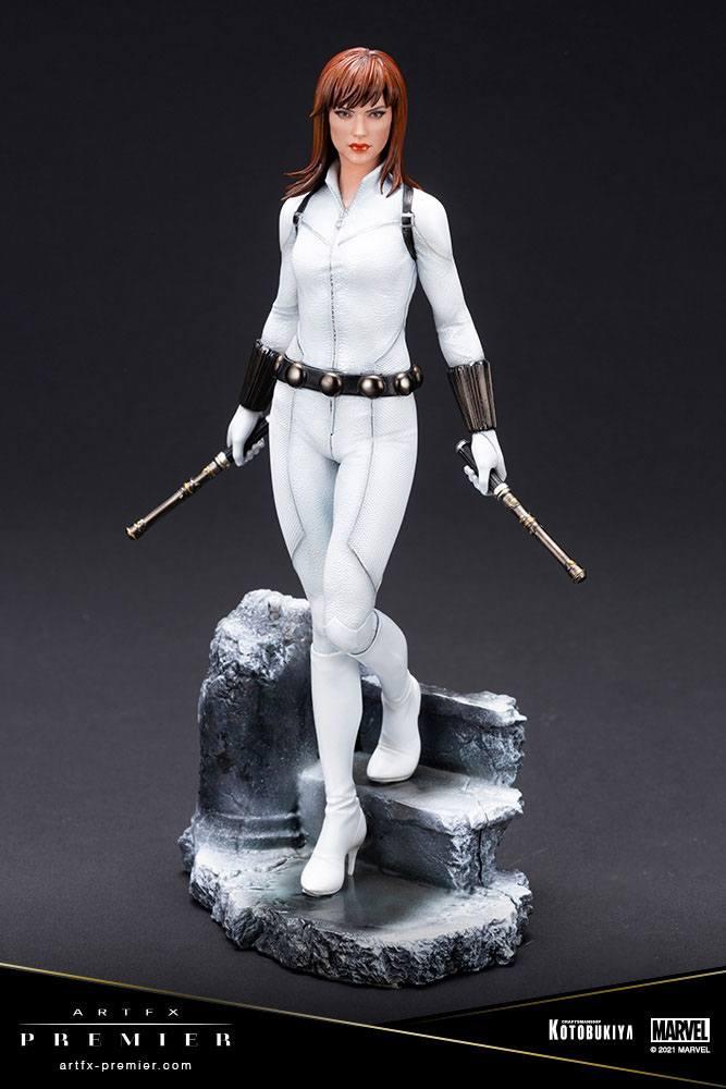 Statuette Marvel Universe ARTFX Premier Black Widow White Costume Limited Edition 21cm