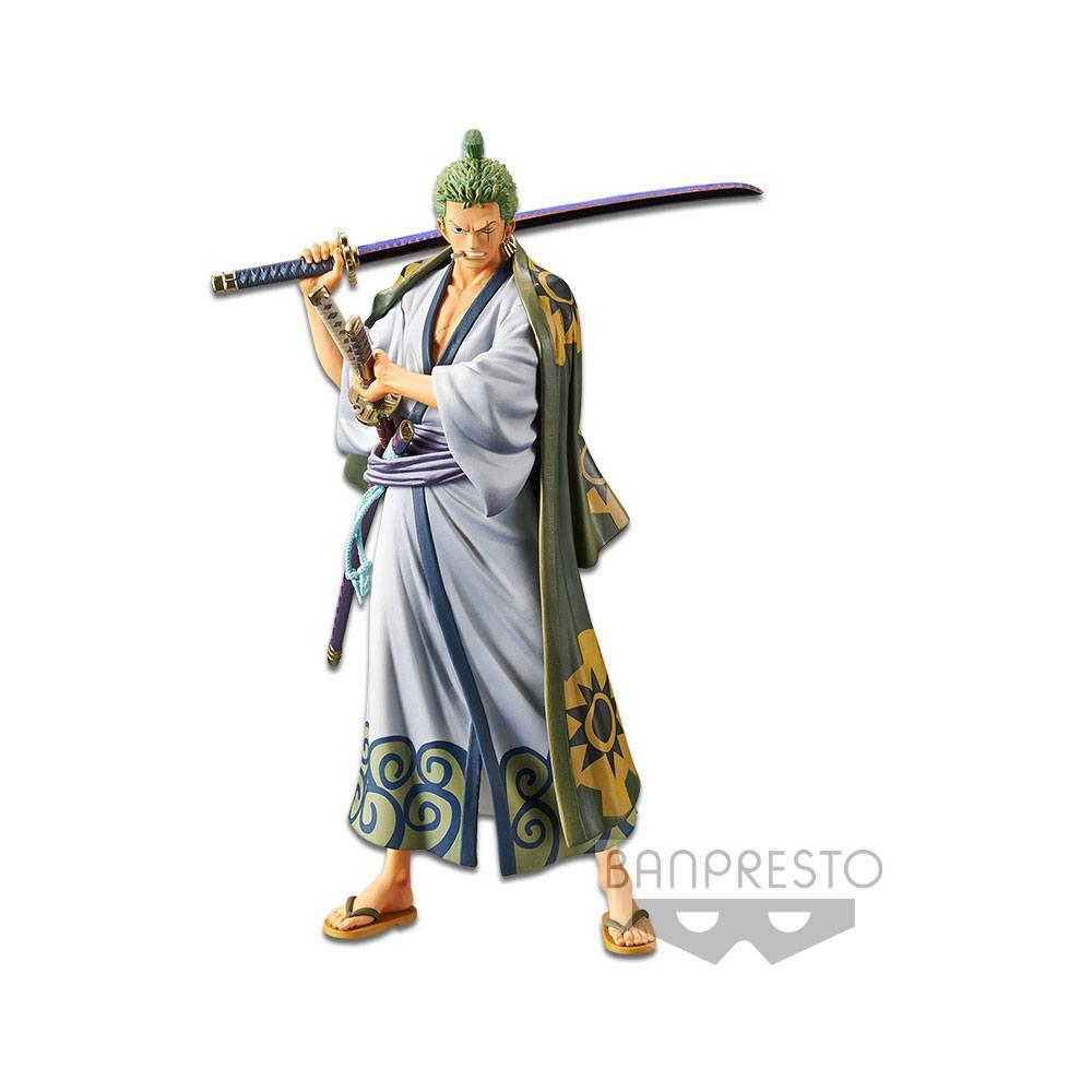 Statuette One Piece DXF Grandline Men Wanokuni Vol. 2 Zoro 17cm