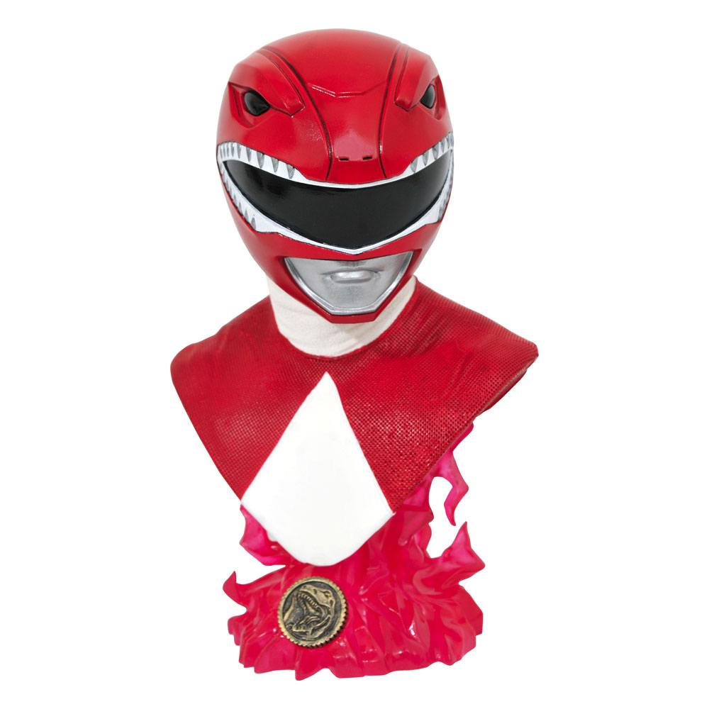 Buste Mighty Morphin Power Rangers Legends in 3D Red Ranger 25cm