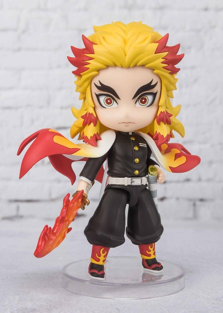 Figurine Demon Slayer Kimetsu no Yaiba Figuarts mini Kyojuro Rengoku Flame Breathing 9cm