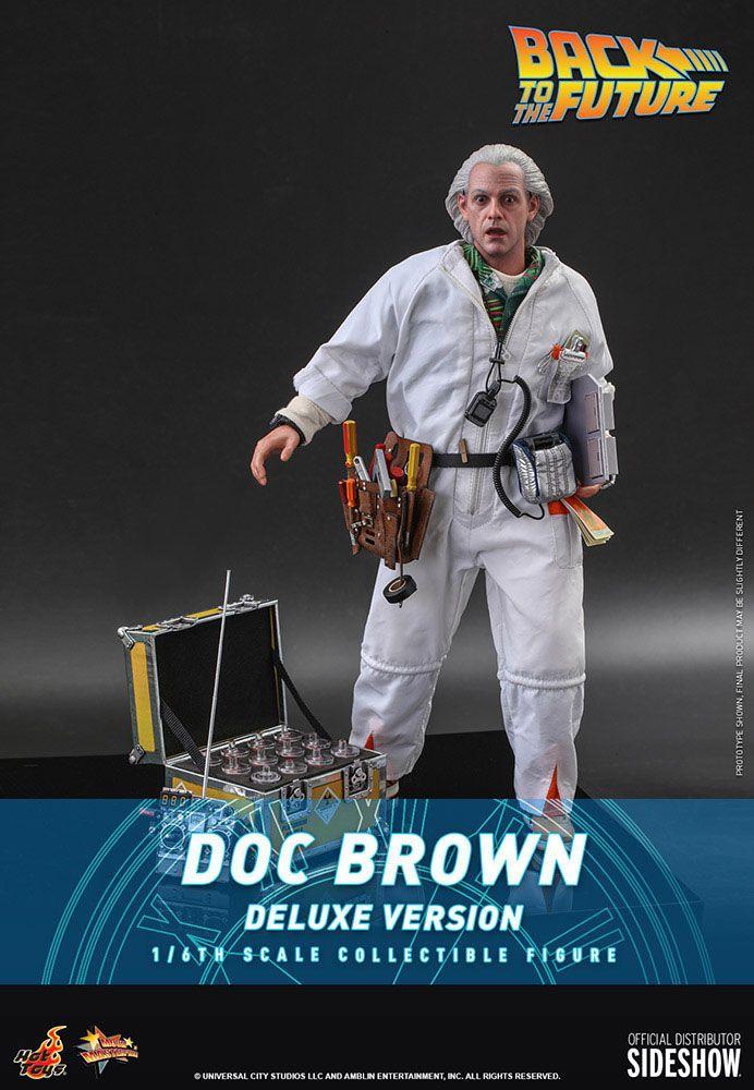 Figurine Retour vers le futur Movie Masterpiece Doc Brown Deluxe Version 30cm