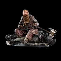 Statuette Le Seigneur des Anneaux Gimli The Dwarf On Uruk-Hai 43 - 11cm