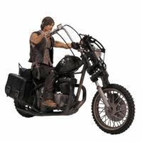 Figurine The Walking Dead - Daryl Dixon avec Chopper Deluxe 25 cm