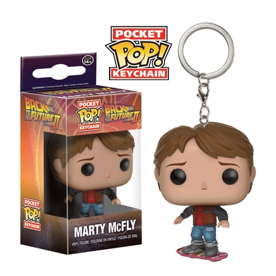 Porte-clés Retour vers le Futur II Pocket POP! Marty McFly on Hoverboard 4cm
