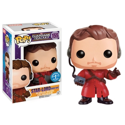 Figurine Bobble Head Les Gardiens de la Galaxie POP! Star-Lord (Mixed Tape) 10cm