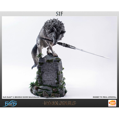 Statuette Dark Souls The Great Grey Wolf Sif 64cm