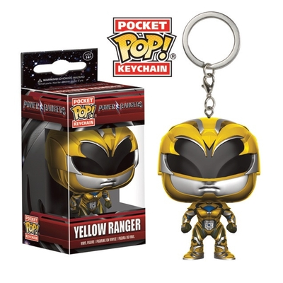 Porte-clés Power Rangers Pocket POP! Yellow Ranger 4cm