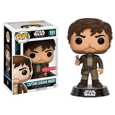Figurine Star Wars Rogue One Funko POP! Bobble Head Captain Cassian Brown Jacket 9cm