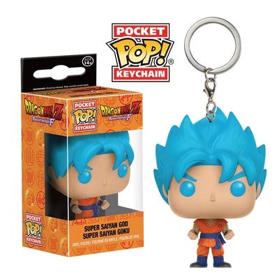 Porte-clés Dragon Ball Z Resurrection F Funko Pocket POP! SSGSS Goku 4cm
