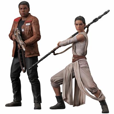 Statuettes Star Wars Episode VII One ARTFX+ Rey & Finn 15 - 18 cm