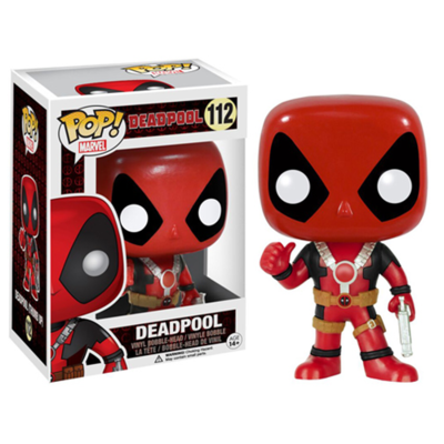 Figurine Marvel Comics Funko POP! Bobble Head Deadpool Thumb Up 10cm
