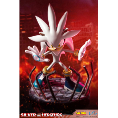 Statue Sonic the Hedgehog Silver the Hedgehog 44cm