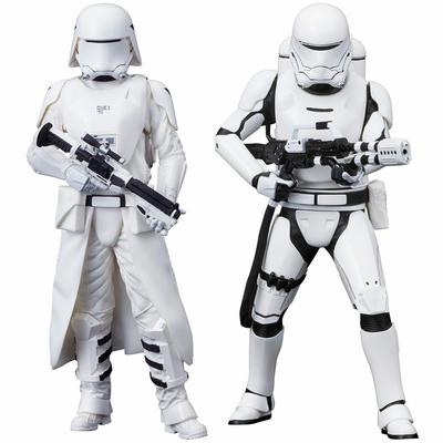 Pack 2 statuettes Star Wars Episode VII ARTFX+ First Order Snowtrooper & Flametrooper 18cm