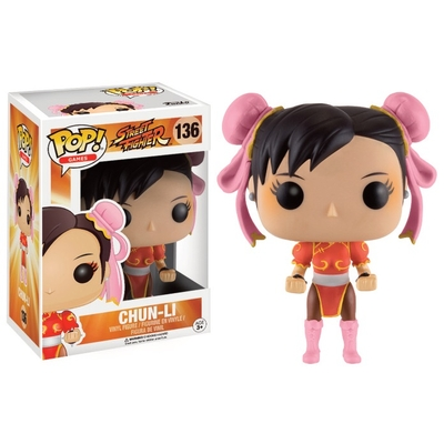 Figurine Street Fighter Funko POP! Chun-Li (Red Outfit) 9cm