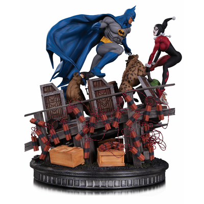 Statuette DC Comics Batman VS. Harley Quinn Battle 36cm