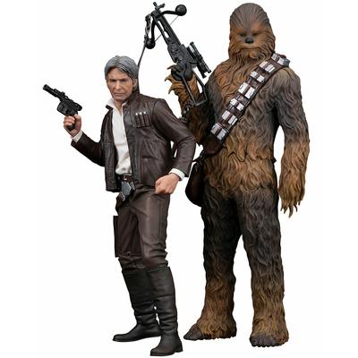 Statuettes Star Wars Episode VII ARTFX+ Han Solo & Chewbacca 20 - 23cm