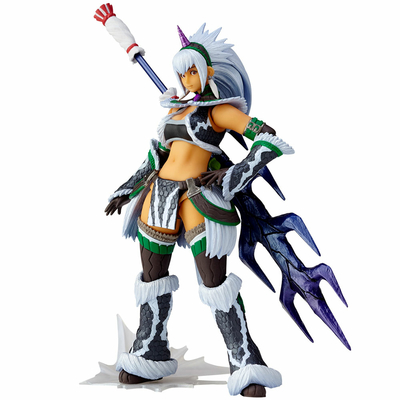 Figurine Monster Hunter X Vulcanlog Monhan Revo Hunter Swordswoman Kirin U Series 16cm