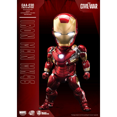Figurine Captain America Civil War Egg Attack Iron Man Mark XLVI 16cm