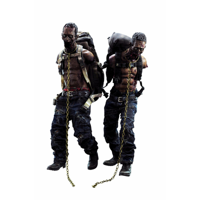 Pack 2 figurines The Walking Dead Michonne´s Pet Walkers 30cm