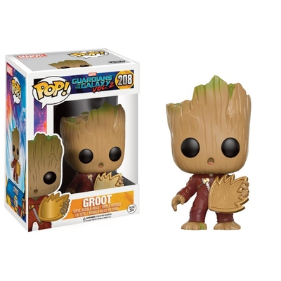 Figurine Les Gardiens de la Galaxie 2 Funko POP! Bobble Head Young Groot with Shield 9cm