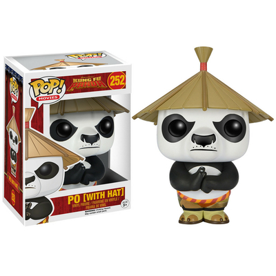 Figurine Kung Fu Panda Funko POP! Po with Hat 9cm
