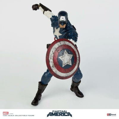 Figurine Marvel x ThreeA Captain America by Ashley Wood 32cm