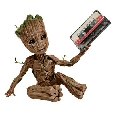 Statuette Les Gardiens de la Galaxie Vol. 2 Premium Motion Awesome Groot 20cm