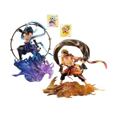 Pack Statuettes Naruto Shippuden G.E.M. Remix Series Sasuke Uchiha Raijin & Naruto Uzumaki Fujin 18cm