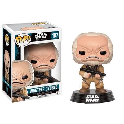 Figurine Star Wars Rogue One Funko POP! Bobble Head Weeteef Cyubee 9cm