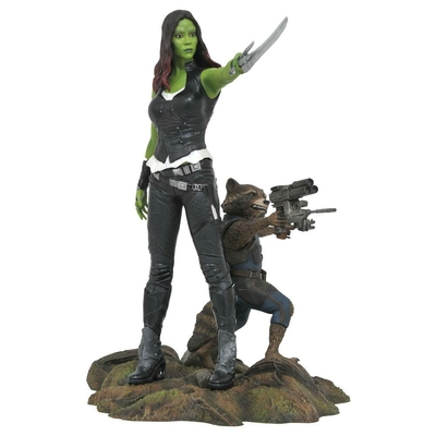 Statuette Les Gardiens de la Galaxie Vol. 2 Marvel Gallery Gamora & Rocket Raccoon 25cm
