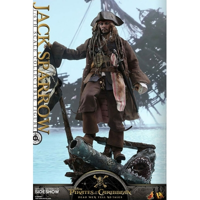 Figurine Pirates des Caraïbes La Vengeance de Salazar Movie Masterpiece DX Jack Sparrow 30cm