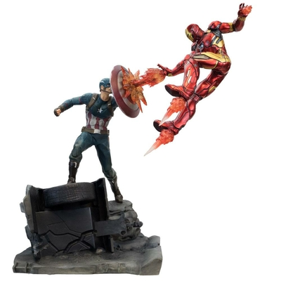 Statuette Captain America Civil War Premium Motion Captain America vs Iron Man 43cm