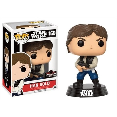 Figurine Star Wars Funko POP! Celebration 2017 Bobble Head Han Solo Action Pose 9cm