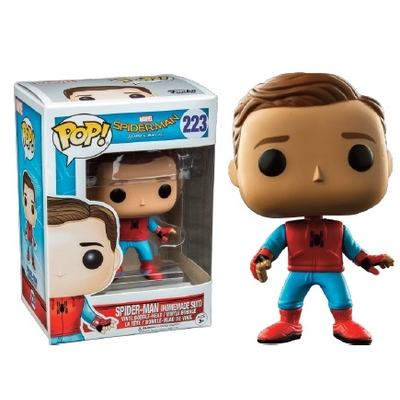 Figurine Spider-Man Homecoming Funko POP! Marvel Homemade Suit Unmasked Spidey 9cm