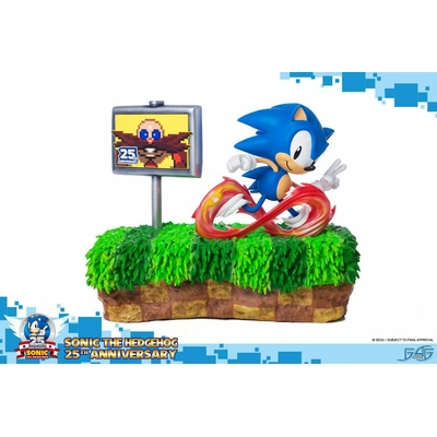Diorama Sonic the Hedgehog 25th Anniversary Sonic 33cm