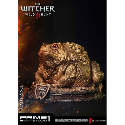 Statuette Witcher 3 Hearts of Stone Toad Prince of Oxenfurt Gold Ver. 34cm