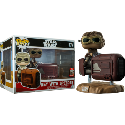 Figurine Star Wars Episode VII Funko POP! Bobble Head Rey with Speeder 15cm