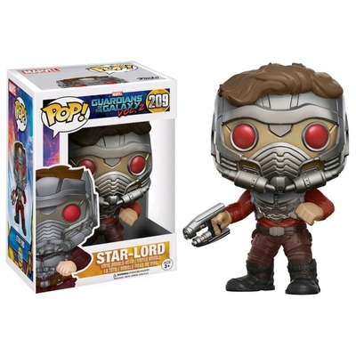Figurine Les Gardiens de la Galaxie 2 Funko POP! Bobble Head Star-Lord (Masked) 9cm