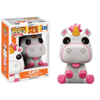 Figurine Moi, moche et méchant 3 Funko POP! Fluffy (Flocked) 9cm