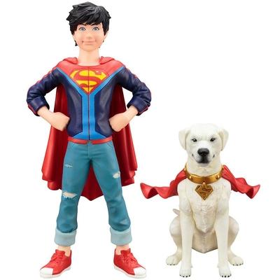 Pack 2 statuettes DC Comics ARTFX+ Super Sons Jonathan Kent & Krypto 15cm