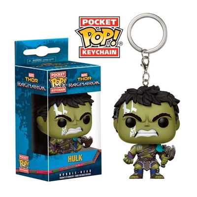 Porte-clés Thor Ragnarok Pocket POP! Hulk (Gladiator Suit) 4cm