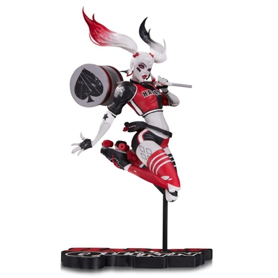 Statuette DC Comics Red White & Black Harley Quinn by Babs Tarr SDCC 2017 18cm
